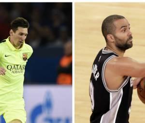 Tony Parker VS Lionel Messi : battle de chutes entre les deux sportifs