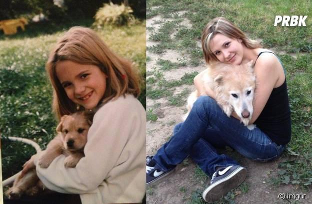 14 ans séparent ces deux photos.