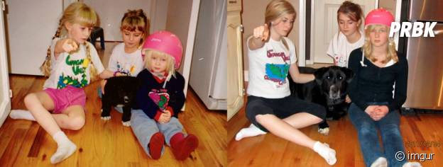 11 ans d'écart entre ces deux photos avec la même pose.