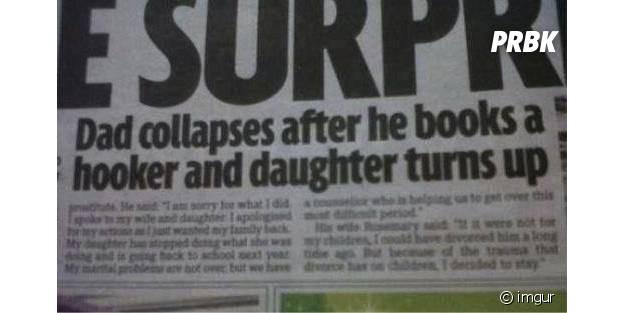 Un père appelle une escort et voit arriver sa fille