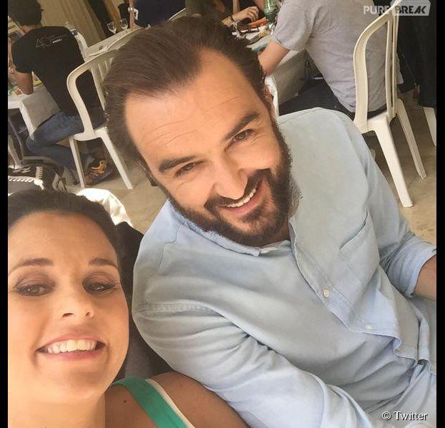 Le Meilleur Pâtissier : Faustine Bollaert et Cyril Lignac pendant le tournage de la saison 4