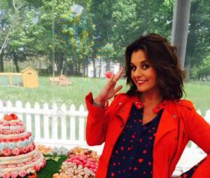 Le Meilleur Pâtissier : Faustine Bollaert pendant le tournage de la saison 4