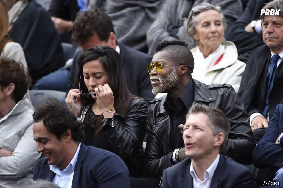 Djibril Cissé lors du match des huitièmes de finale de Jo-Wilfried Tsonga à Roland Garros le 31 mai 2015