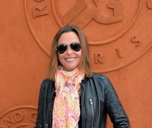 Sandrine Quétier au Village de Roland Garros, le 1er juin 2015