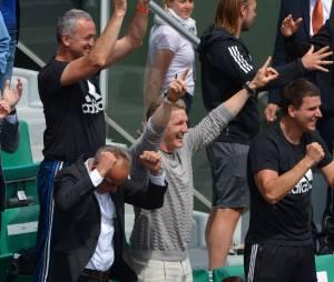 Bastian Schweinsteiger dans les tribunes de Roland Garros 2015 pour soutenir Ana Ivanovic