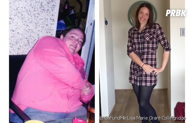 Une photo avant régime/après régime de Lisa Marie Grant-Collingridge