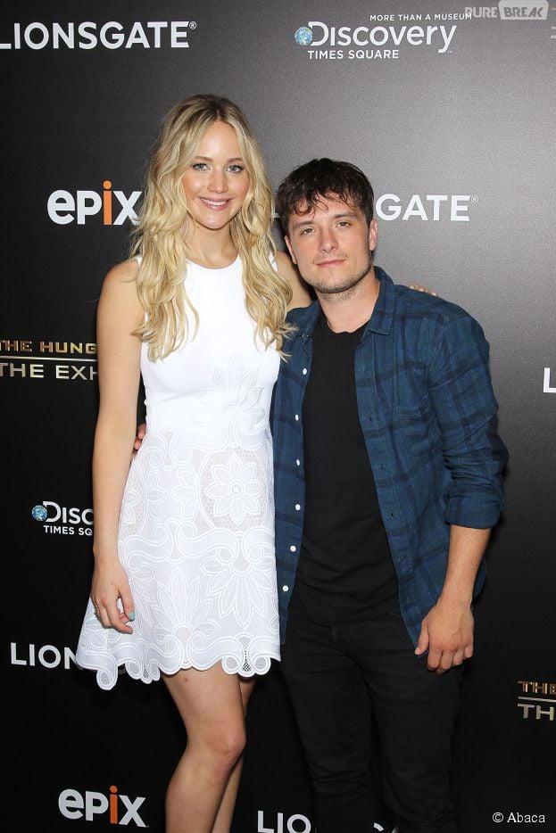 Hunger Games : Jennifer Lawrence, Josh Hutcherson et tout le casting des films réunis pour l'inauguration de l'exposition à New York, 29 juin 2015