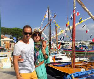 Eve Angeli et Christophe : le couple prend la pose à Saint Tropez, le 29 juin 2015