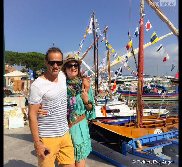 Eve Angeli et Christophe : le couple prend la pose à Saint Tropez, le 29 juin 2015