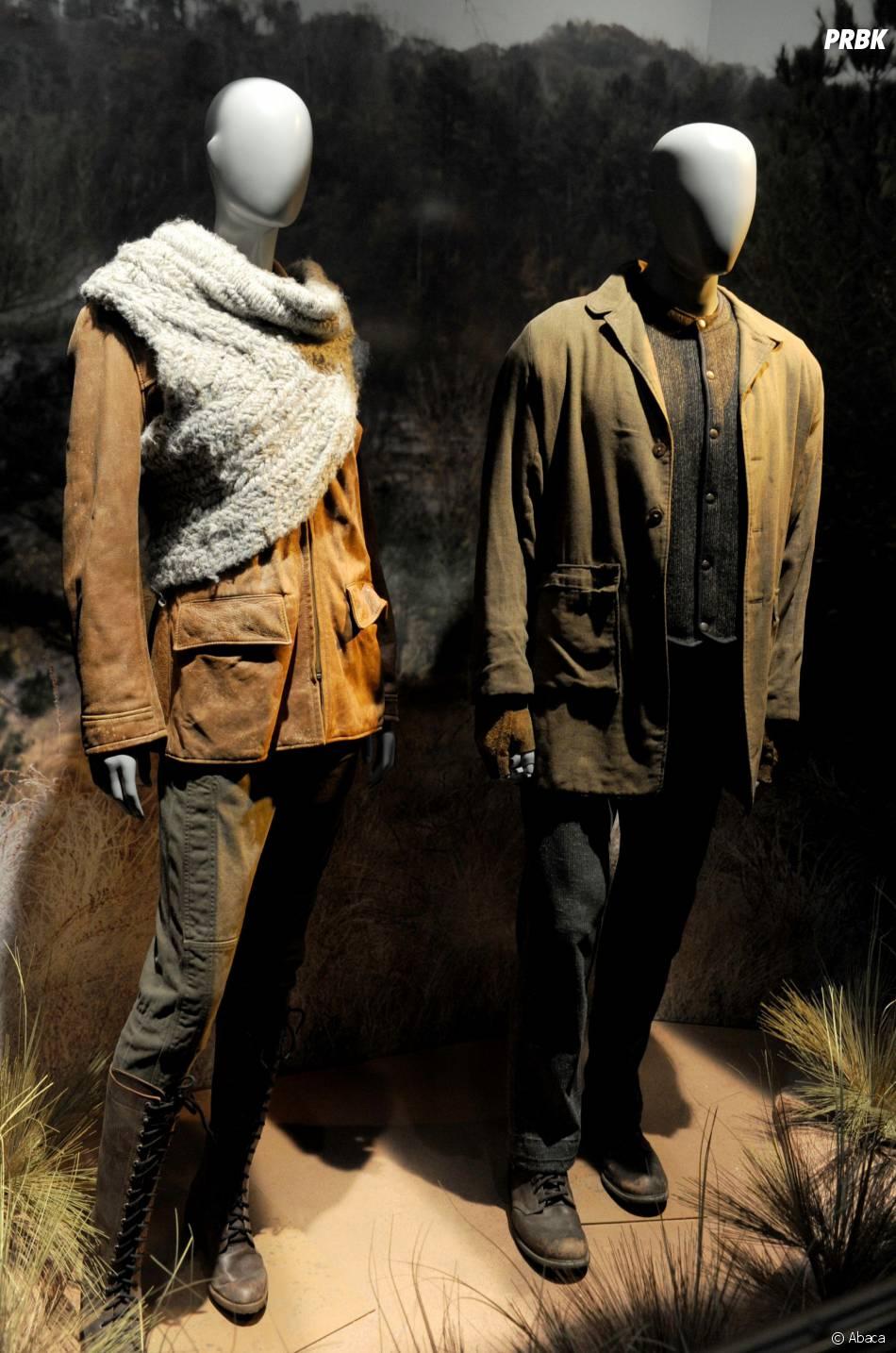 Hunger Games : les costumes de Katniss et Peeta dans la première scène du second volet à l'exposition à New York