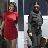 Kylie Jenner : robe courte et ultra moulante face à une Kim Kardashian en mode dimanche