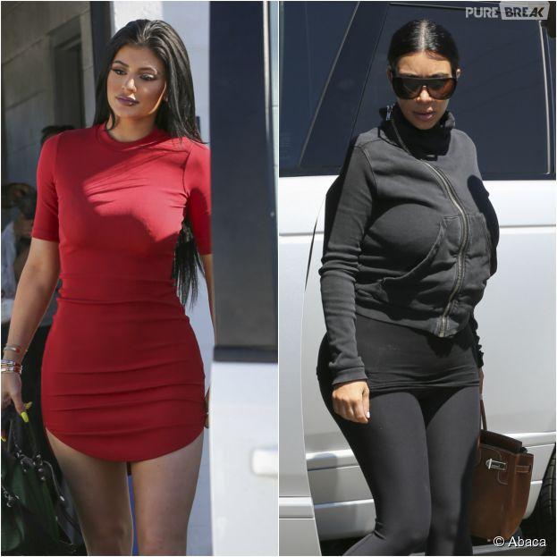 Kylie Jenner sexy et hot VS Kim Kardashian en mode jogging