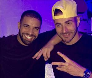 Karim Benzema, nouvel ami des stars aux USA : ici avec Drake