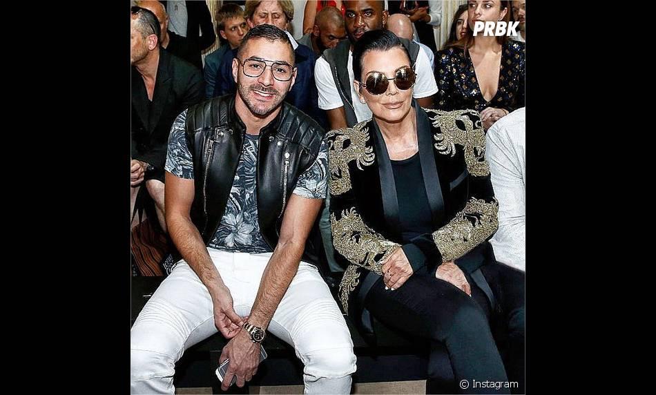 Karim Benzema, nouvel ami des stars aux USA : ici avec Kris Jenner, la maman de Kim Kardashian