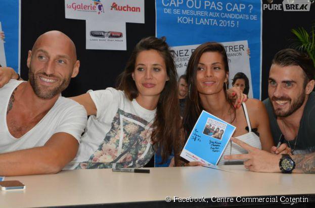 Jeff, Jessica, Manon et Christophe au Centre Commercial Contentin de La Glacerie, le samedi 4 juillet 2015