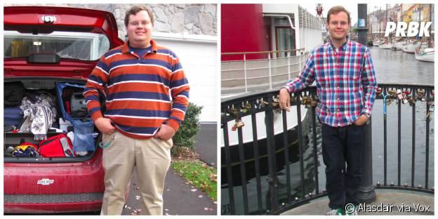 Alasdair avant et après