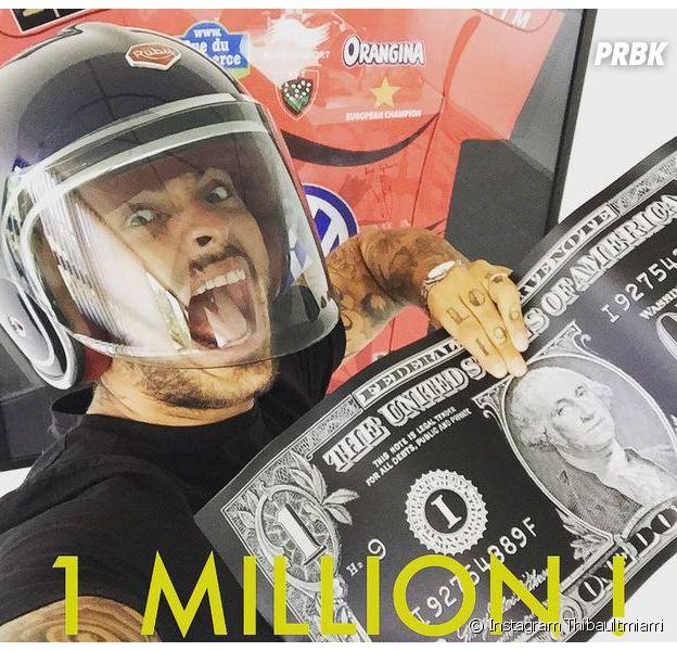 Thibault (Les Anges 7) fête son million sur Instagram, le 11 juillet 2015