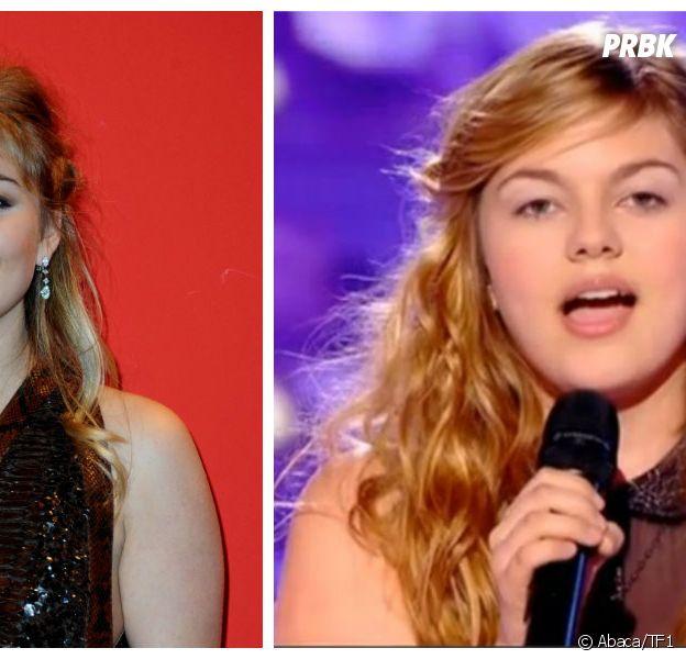 Louane : à gauche aux César 2015, à droite dans The Voice en 2013