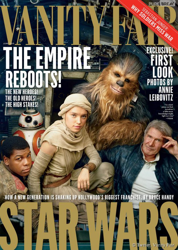Star Wars 7 sur la couverture du magazine Vanity Fair, mai 2015