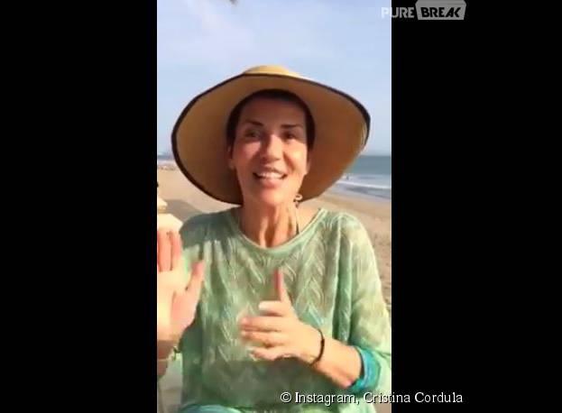 Cristina Cordula s'affiche au naturel sur Facebook