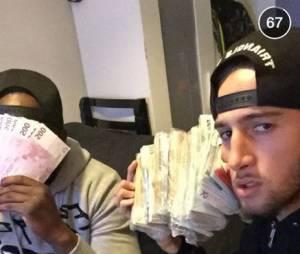 Tarek Benattia affiche ses milliers d'euros sur Snapchat