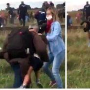 Une journaliste frappe des réfugiés syriens : la vidéo choquante qui scandalise