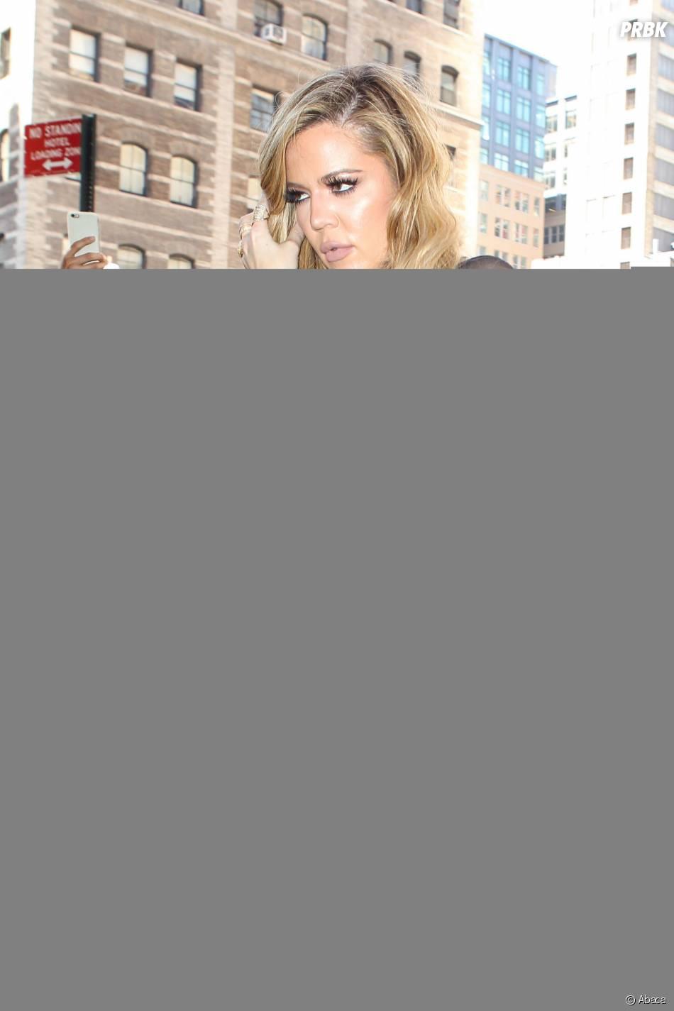 Khloé Kardashian pour soutenir Kanye West lors du défilé de sa marque à la Fashion Week de New-York, le 16 septembre 2015