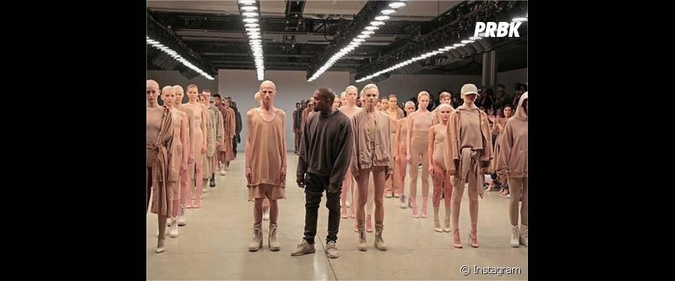 Kanye West lors du défilé de sa marque à la Fashion Week de New-York, le 16 septembre 2015