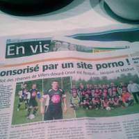 """Une équipe de foot dit """"merci"""" au site porno Jacquie et Michel"""