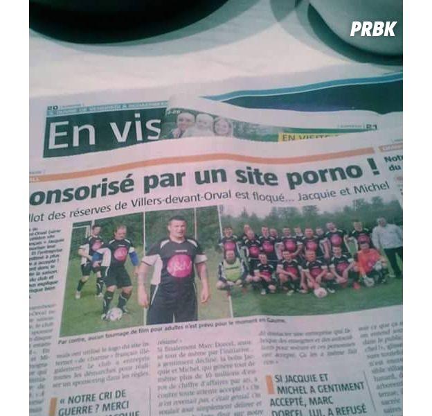 Jacquie et Michel nouveau sponsor d'une équipe de foot