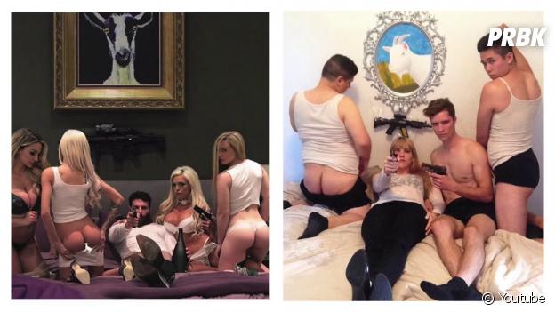 Comparatif des photos de Dan Bilzerian et des YouTubeurs LOLperv
