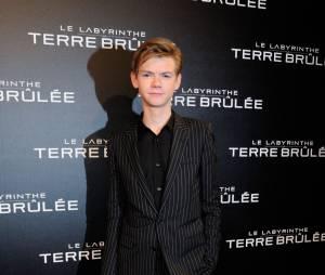 Thomas Sangster à l'avant-première du film Le Labyrinthe : La Terre Brulée à Paris le mardi 29 septembre 2015 au Grand Rex