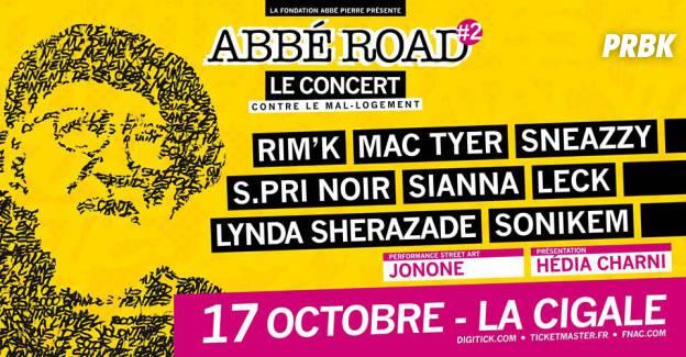 Le concert Abbé Road contre le mal-logement au profit de la Fondation Abbé Pierre à la Cigale, le 17 octobre 2015