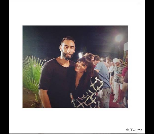La Fouine et Shy'm lors du Concert pour la tolérance à Agadir, le 4 octobre 2015 et bientôt sur W9