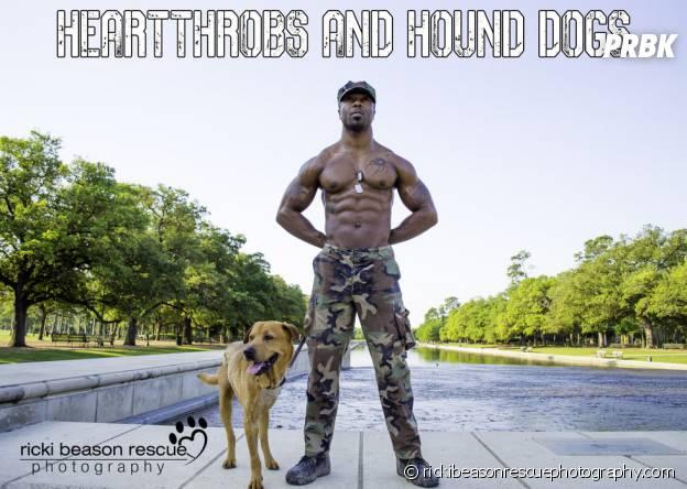 Un militaire retiré sexy et un chien à adopter