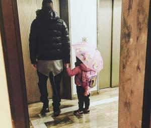 Jérémy Ménez accompagne sa fille Maëlla à l'école