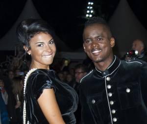 Black M et sa femme Lia sur le tapis rouge des NRJ Music Awards, le 13 décembre 2014 à Cannes