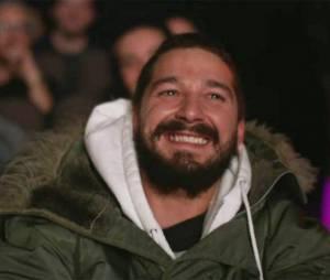 Shia Labeouf très ému devant le film de La Guerre des Stevens