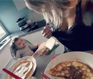 Stéphanie Clerbois : maman sexy avec son films Lyam