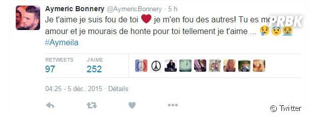 Aymeric Bonnery : déclaration d'amour à Leila Ben Khalifa sur Twitter