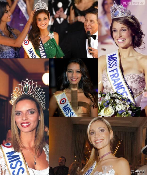 Miss France : Laury Thilleman, Malika Ménard, Alexandra Rosenfeld, Flora Coquerel et Sylvie Tellier en photos l'année de leur élection