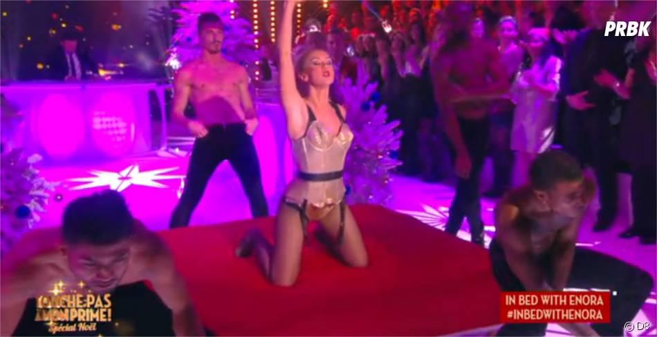 Enora Malagré sexy : elle danse dans Touche pas à mon prime le 17 décembre 2015 sur D8