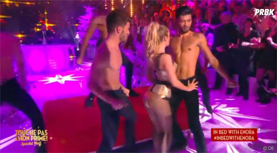 Enora Malagré sexy : sa danse hot dans Touche pas à mon prime le 17 décembre 2015 sur D8