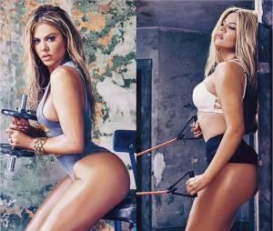 Khloe Kardashian sexy et sportive dans un shooting pour le magazine Complex