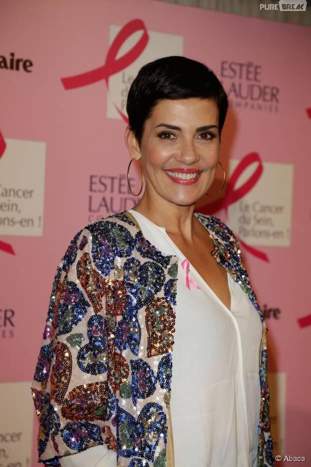 Cristina Cordula lors du lancement d'Octobre Rose à Paris le 28 septembre 2015
