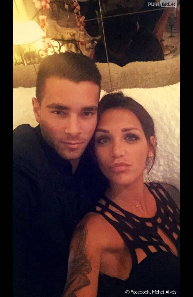Julia Paredes avec son petit-ami Mehdi Alvès alias Mister France 2015