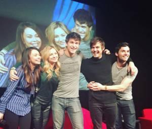 Janel Parrish, Vanessa Ray, Keegan Allen, Tyler Blackburn et Ian Harding à Paris pour la convention Keep A Secret 3 le week-end du 23 janvier 2016