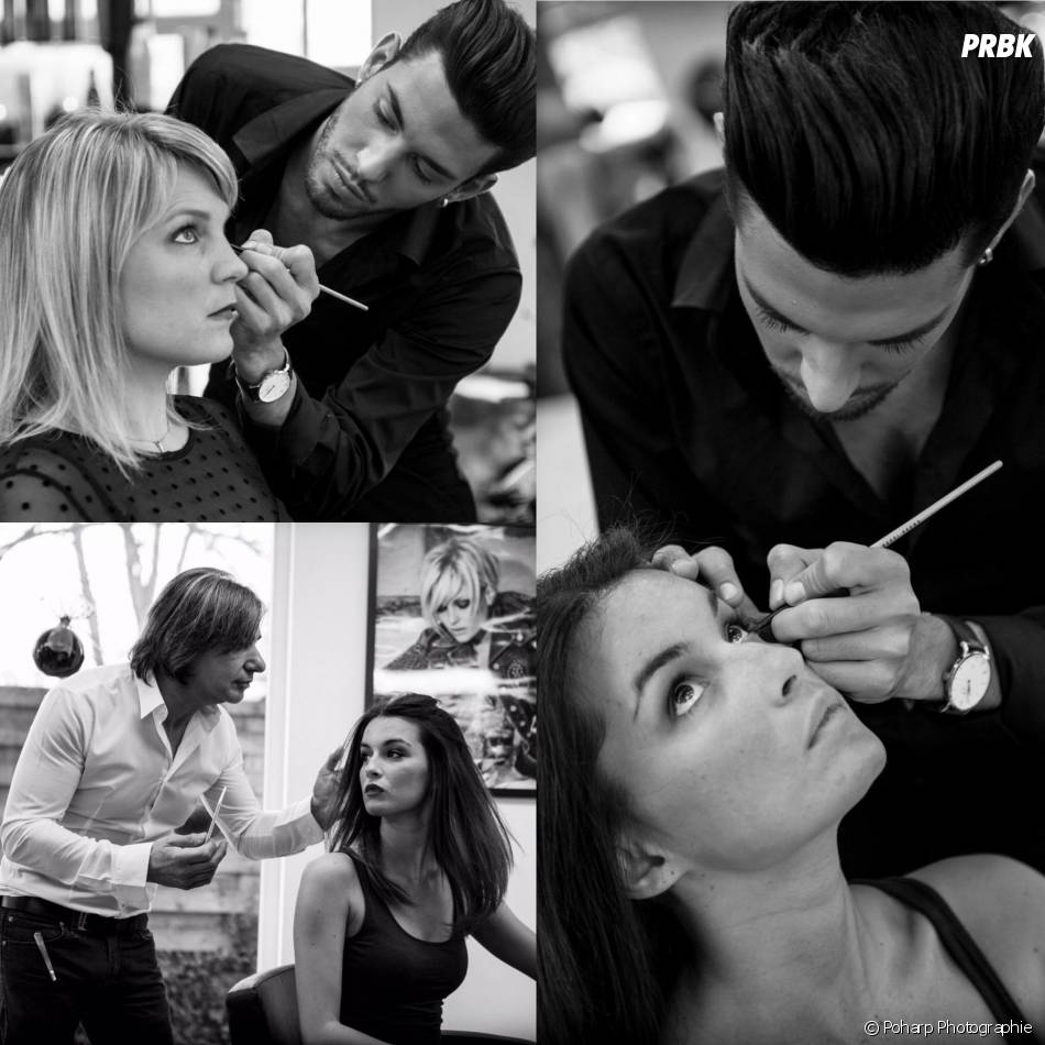 Sacha Buyse en plein maquillage pour Rendez-vous avec Sacha