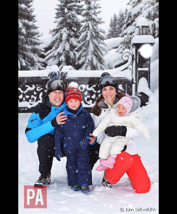 Kate Middleton, Prince William, Prince George et Princesse Charlotte en vacances au ski
