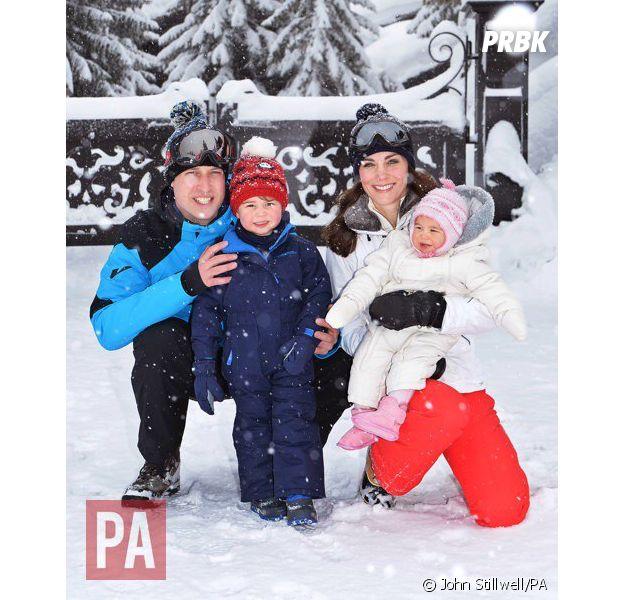 Kate Middleton, Prince William, Prince George et Princesse Charlotte en vacances au ski